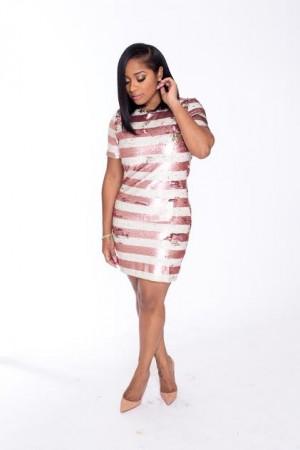 bush sequin dress